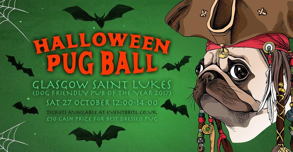 halloween pug ball