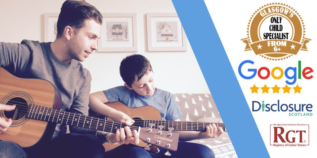 man-teaching-child-guitar-lesson
