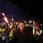 St Andrew's Torchlight Parade Glasgow West End