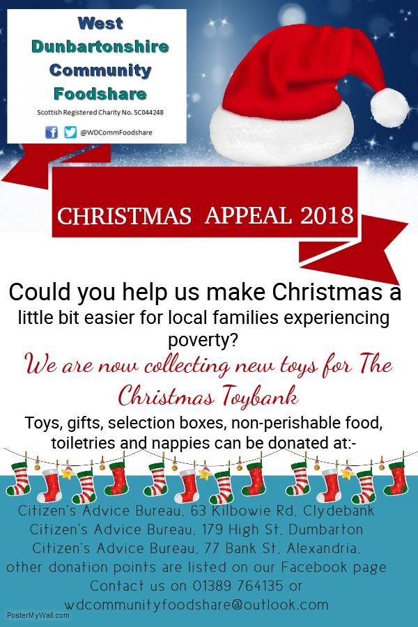 West Dunbartonshire Christmas Toy Appeal Glasgow West End