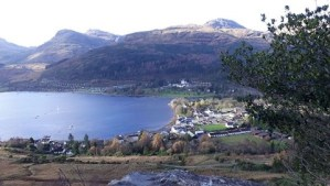 View over lochgoilhead