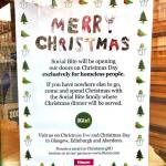 Social Bite Help the Homeless this Christmas