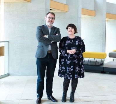 Stuart MacRae and Louise Welsh by Julie Broadfoot