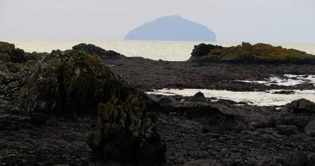 Ailsa Craig. Ayrshire Coastal Path
