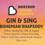 Beatson Cancer Charity Gin and Sing, Bohemian Rhapsody
