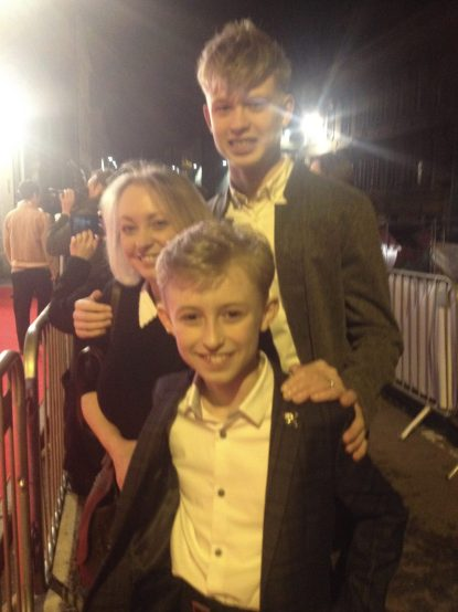 gregor selkirk and his mum and brother