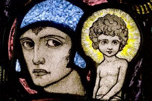 Stained glass, The Coronation of the Blessed Virgin by Harry Clarke, 1923
