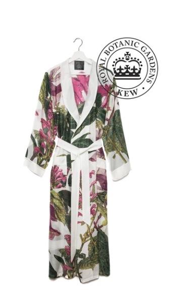 white magnolia botanical gown