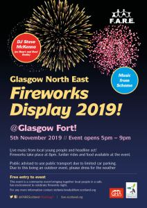 north glasgow fireworks display