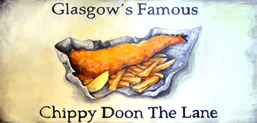 glasgows famous chippy doon the lane