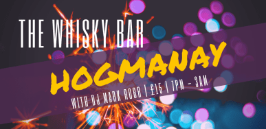 whisky bar hogmanay
