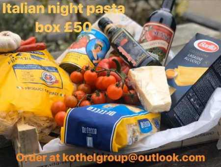 italian night pasta box