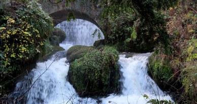 Waterfall in Detail.Rouken Glen Park