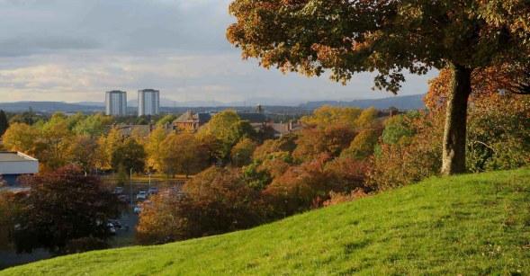 A Hilltop View. Bellahouston Park. Glasgow 2020.