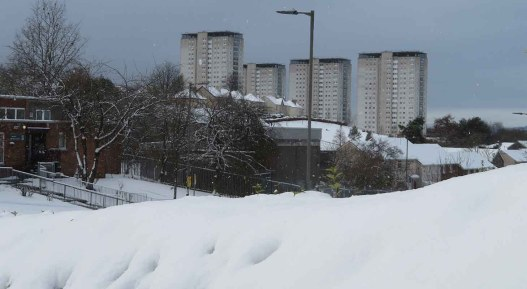 Deep Snow in Glasgow's Western Districts. February. 2021