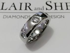 gents wedding ring b and s