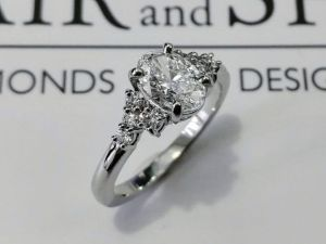 oval cut diamond ring b and s