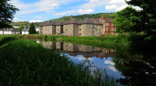Canal Reflections Near Dalmuir