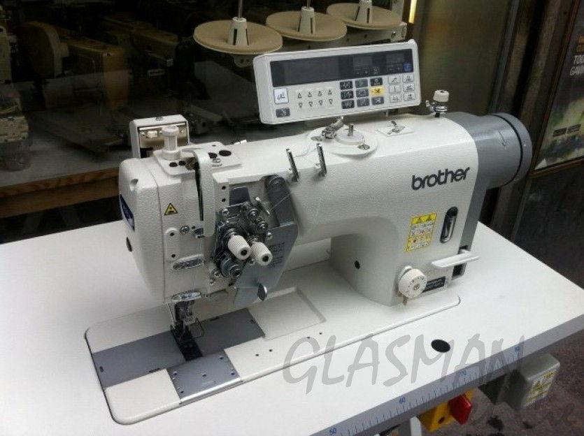 machine a double aiguilles escamotables coupe fil brother t 8452c 403