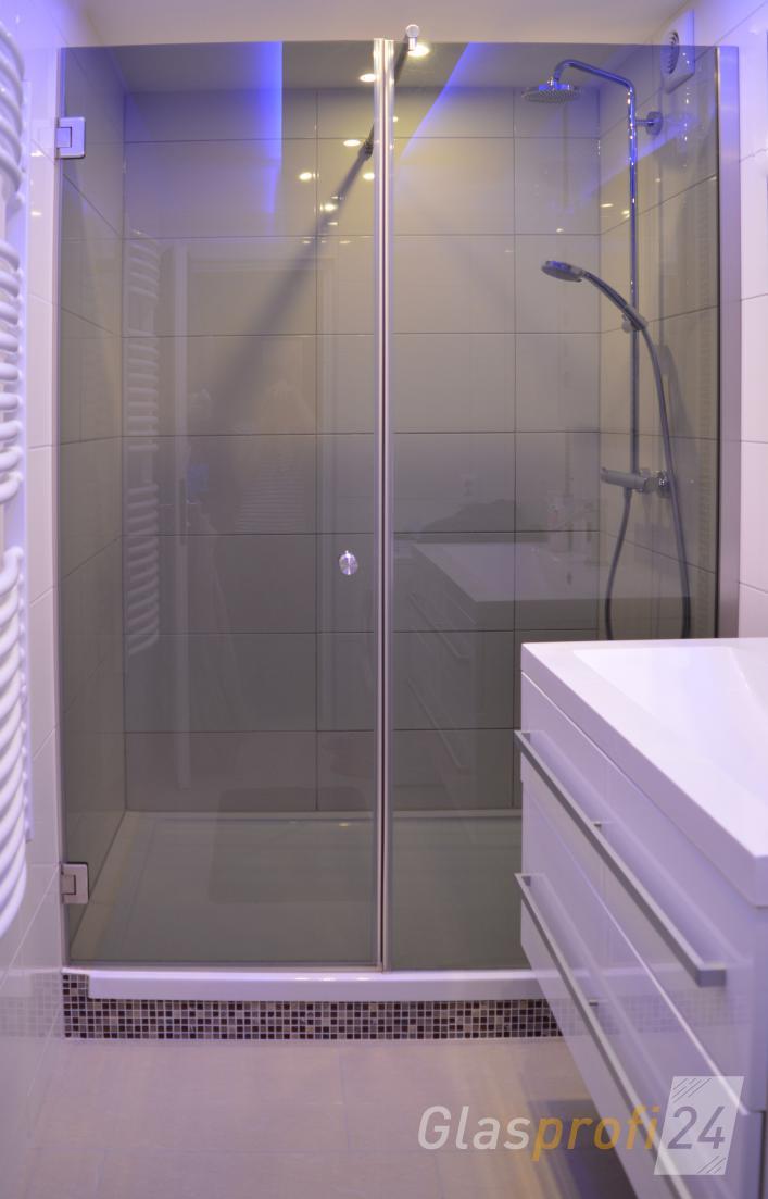 Duschtr in Nische  Nischendusche aus Glas  GLASPROFI24