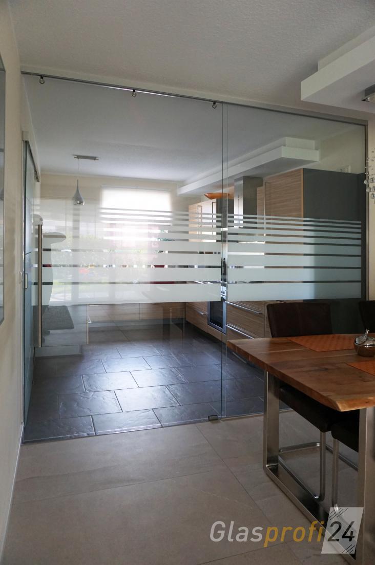 Kche Mit Glasrckwand Glasbild Als Volle Glaswand Moderne