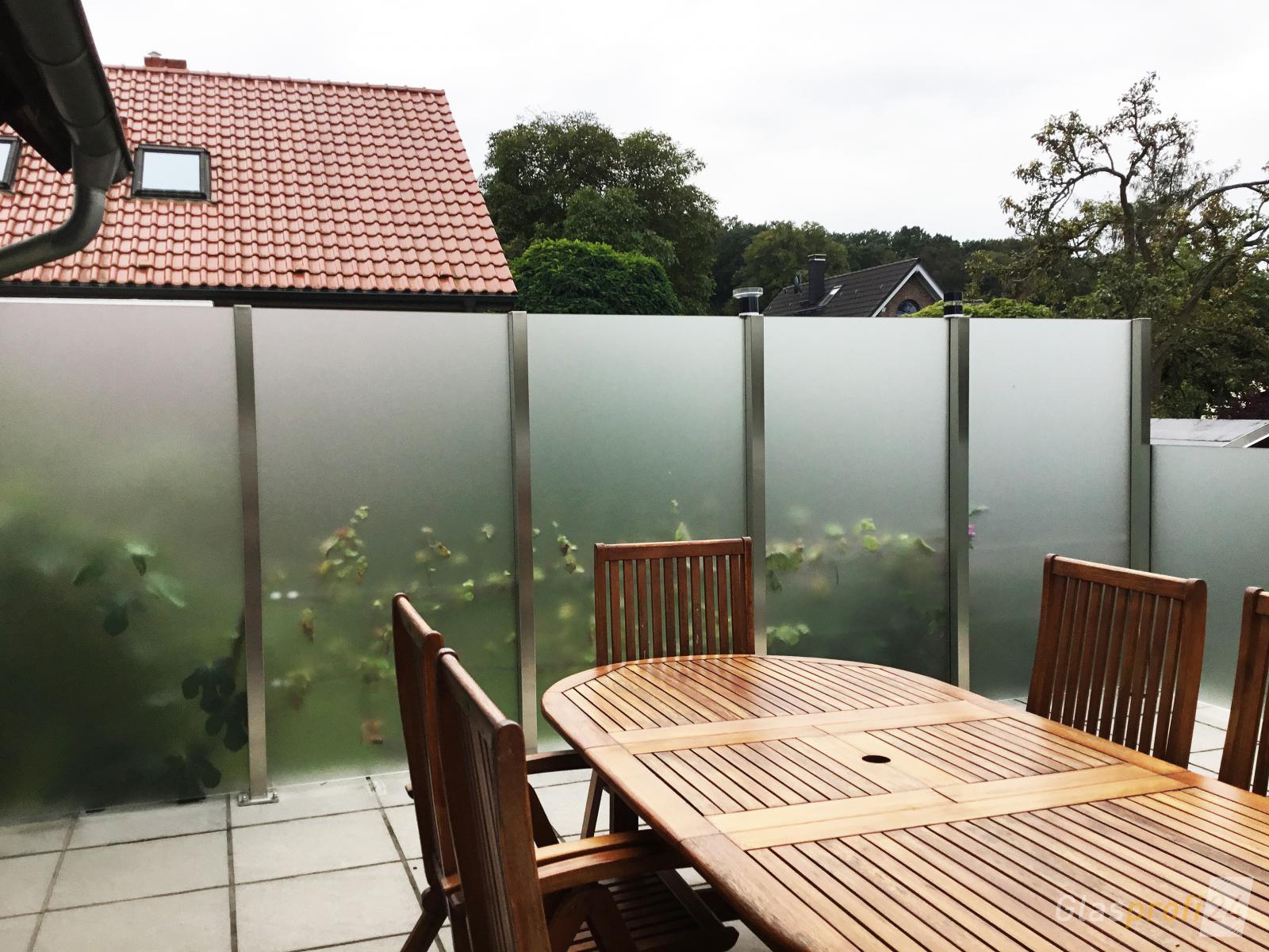 Windschutz fr die Terrasse  GLASPROFI24