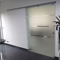 Glasschiebetr mit Alu-Beschlag | GLASPROFI24