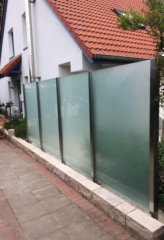 Glaszaun fr Garten und Terrasse  GLASPROFI24