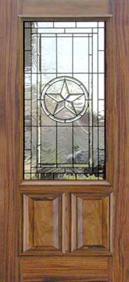 Texas Star Door Beveled Leaded Glass Window Custom Glass ...