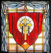 Cross Religious Leaded Stained Glass Church Window Custom ...