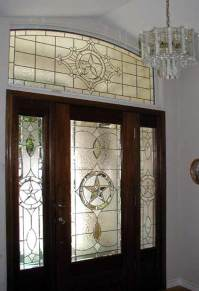 TEXSTAR E7 Leaded Glass Beveled Transom Window Custom ...