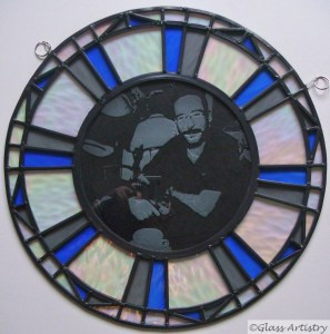 Leadlight and stained glass creation, with sandblasting