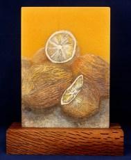 Colourful Lemons - Glass Linocut