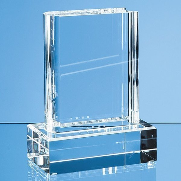 12.5cm Optical Crystal Book Award