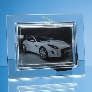 "25cm Lead Crystal Plain Photo Frame for 7 x 5 Photo""""5cm Le"""