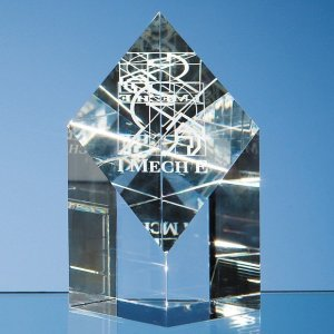 13cm Optical Crystal Diamond Award