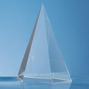 15.5cm Optical Crystal Facet Point Award
