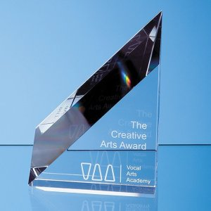 18cm Optical Crystal Stafford Peak Award