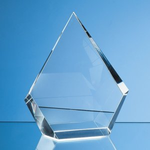 15cm Optical Crystal Facet Diamond Award
