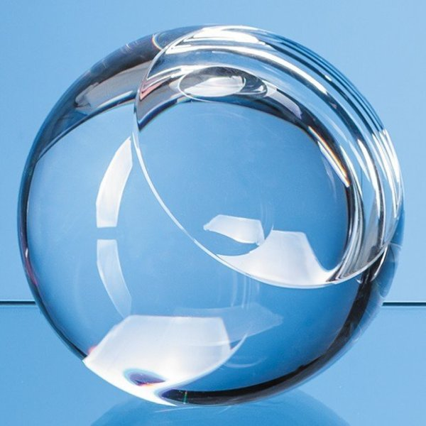 6cm Optical Crystal Sliced Ball with a Flat Front