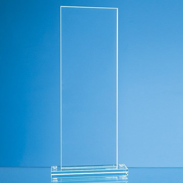 20cm x 9.5cm x 12mm Jade Glass Tall Rectangle Award