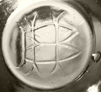 Unknown monogram HB (?) mark on base of leech bowl or fish bowl. (Photo courtesy of Steve Wilkerson.)