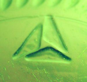 American National Can Company mark, triangle / sailboat-like logo
