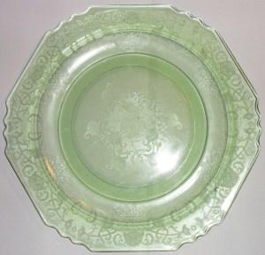 "Hazel Atlas - ""Florentine No. 1"" - Dinner Plate (c. 1932-1935)"