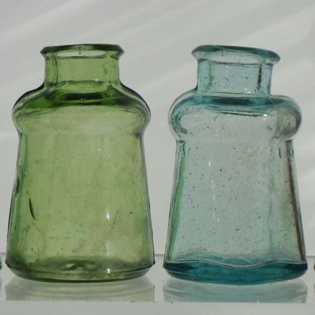 Group of Bixby shoe dressing bottles
