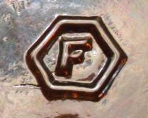 F in Hexagon - Fairmount Glass