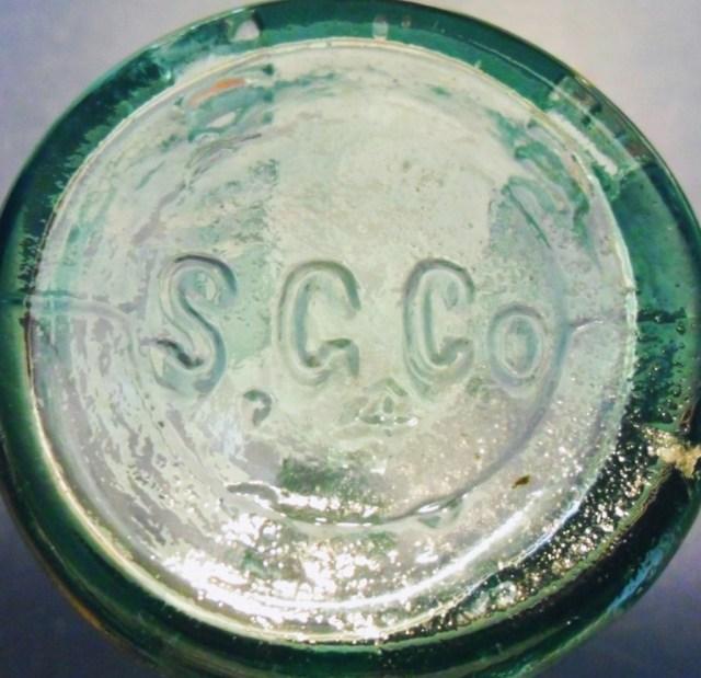 S.G.CO. mark on base of John J. Smith bottle