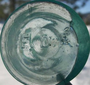 F.D.A. on base of cone ink. (Photo courtesy Jim Sinsley)