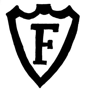 """F in a shield"" logo - Federal Glass Company, Columbus, Ohio."