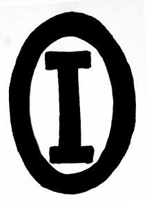 """I inside of an O"" trademark/logo - Owens-Illinois Glass Company"